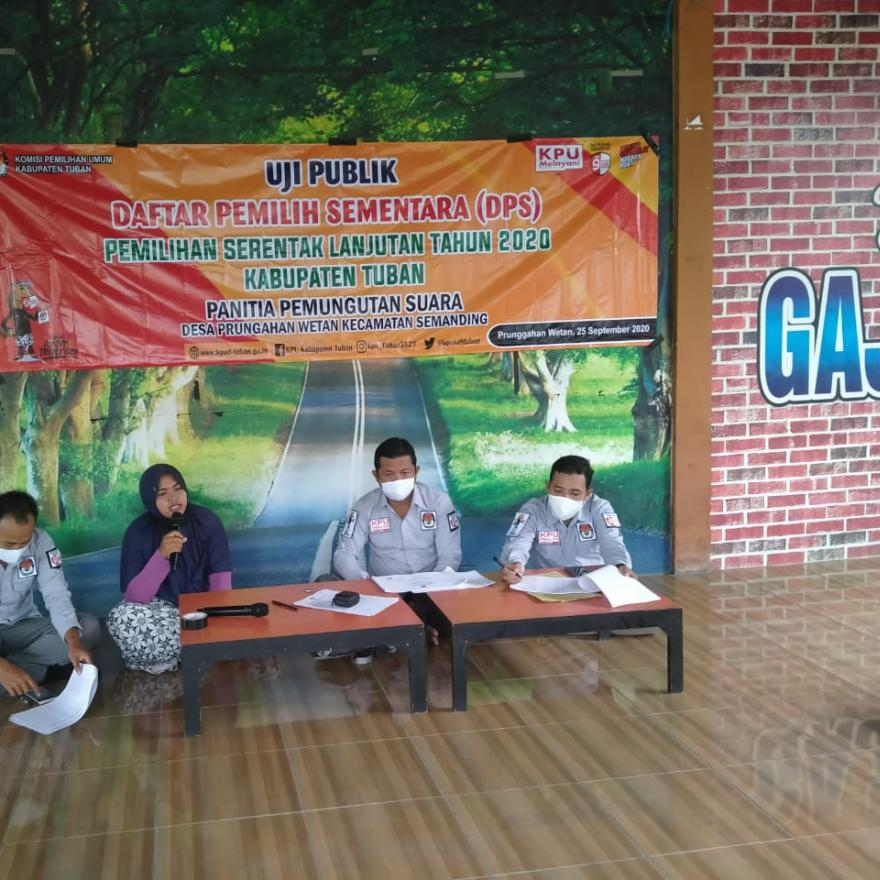Uji Publik Daftar Pemilih Sementara Desa Prunggahan Wetan