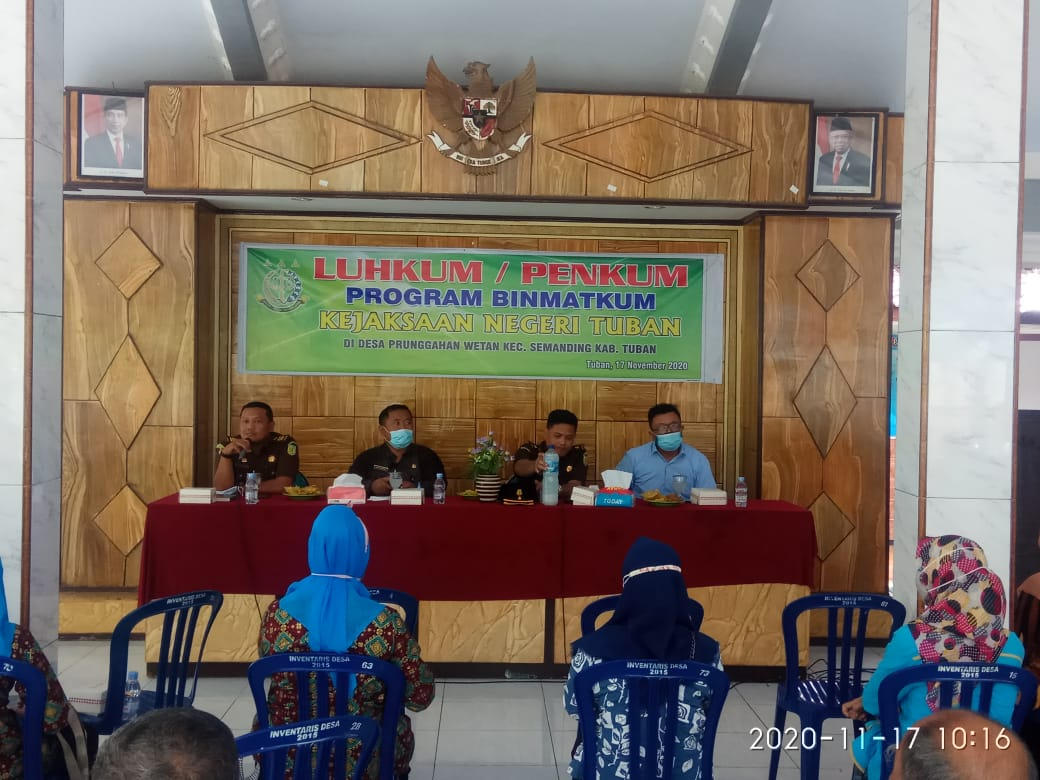 Penyuluhan Hukum Program Binmatkum Kejaksaan Kejaksaan Negeri Tuban